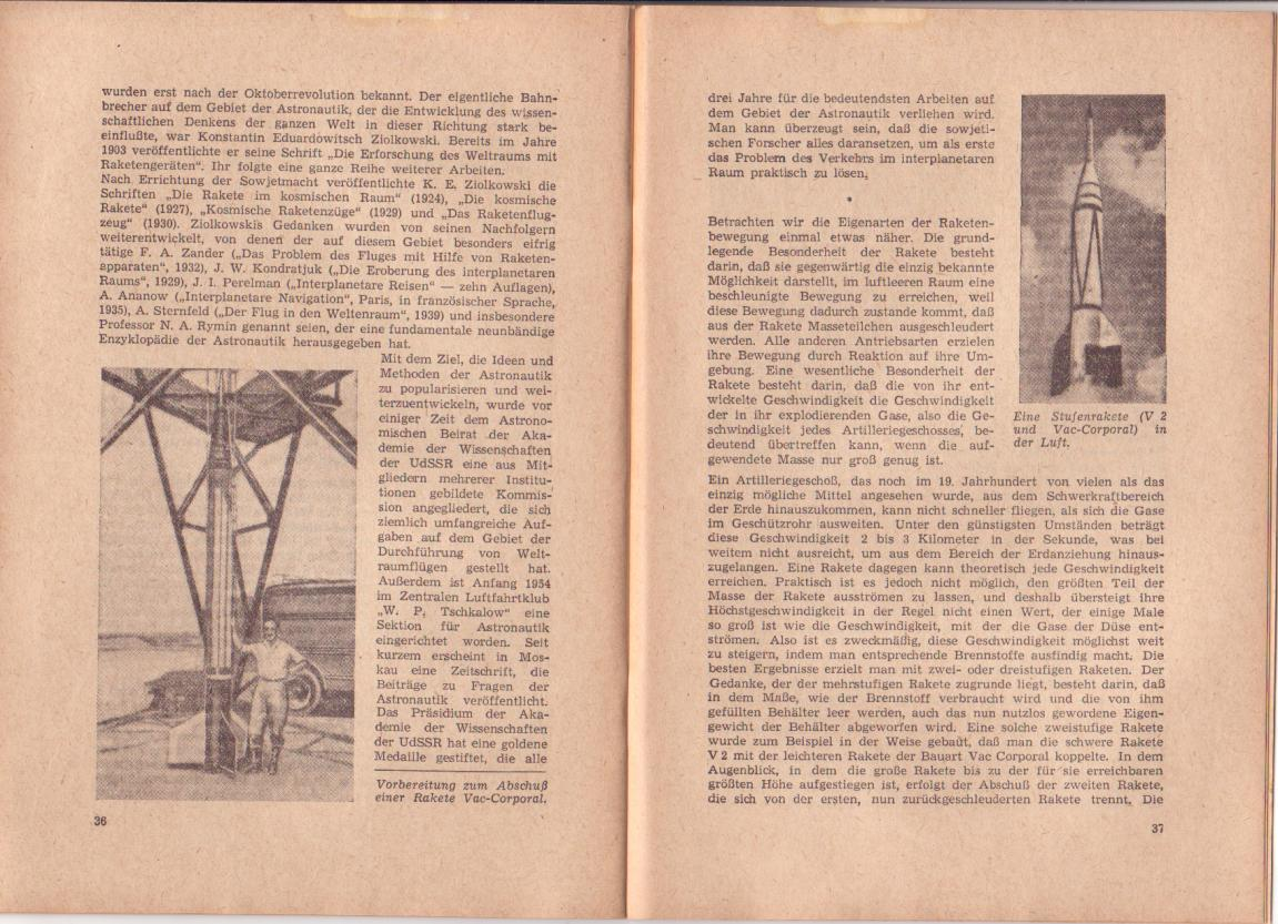 Soviet Future Space Exploration Articles Brochure 1955 in ...